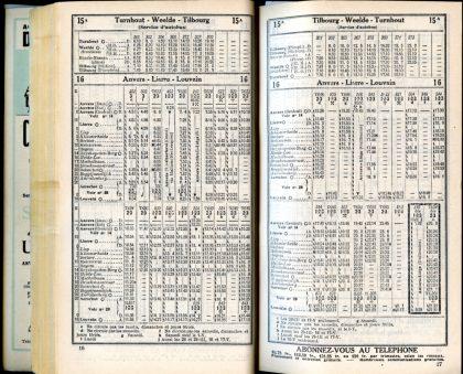 Lignes 15A - 16 (Horaire 1937)