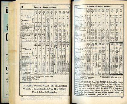 Ligne 16 (Horaire 1937)